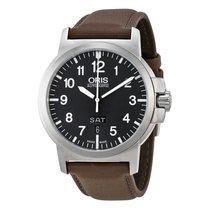 Oris BC3 Advanced Black Dial Leather Strap Mens Watch 73576414...