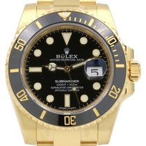 Rolex Submariner 116618LN Yellow Gold Black Dial Ceramic Bezel...