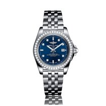 Breitling Galactic Quartz Stainless Steel Blue Dial Ladies...