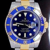 Rolex Submariner 116613 2tone 18k Yellow Gold/steel Blue...