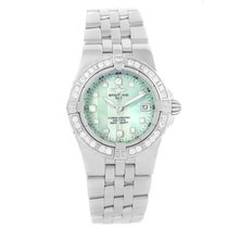 Breitling Starliner Green Mother Of Pearl Diamond Ladies Watch...