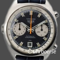 Heuer Carrera Vintage Automatik Chronograph Edelstahl um 1970