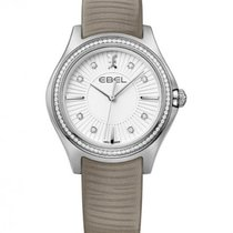 Ebel Wave Lady Calfskin Bracelet, Diamond Index