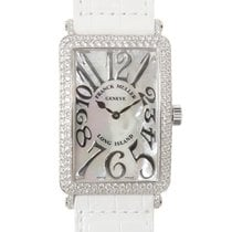Franck Muller New  Long Island White Gold Diamond White Quartz...