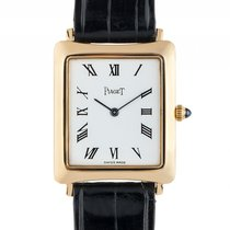 伯爵 (Piaget) Classique 18kt Gelbgold Handaufzug Armband Leder...