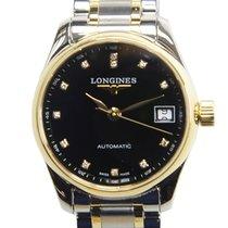 Longines Master 18k Gold Steel Black Automatic L2.128.5.57.7