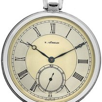Gübelin stainless steel Art Deco pocketwatch