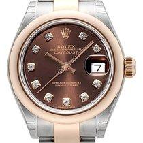 Rolex Datejust 28 Ref. 279161 Edelstahl Everose‑Gold Choco...