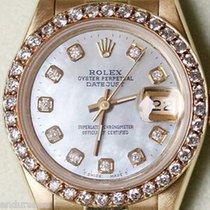 Rolex President Ladies 26mm 18k Yellow Gold 69178 Diamond...