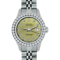 Rolex Datejust Ladies' 26mm Green Dial Stainless Steel...