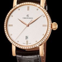 Chronoswiss Sirius Automatic Red Gold & Diamonds-Silver...