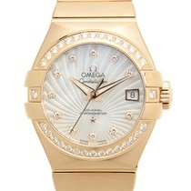 Omega Constellation 18k Rose Gold White Automatic 123.55.27.20...