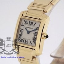 Cartier Tank Française 1820 solid 18K Gold SERVICED by Cartier