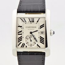 Cartier Tank Mc Stainless Steel Automatic Silver Dial 3589