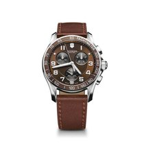 Victorinox Swiss Army Chrono Classic, brown dial, leather,...