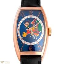 Franck Muller World Wide Australia 18K Gold Leather Men`s Watch