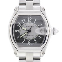 Cartier Roadster Large Steel W62025V3 with Box/Papers/Extra Strap