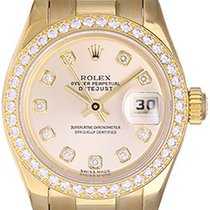 Rolex Ladies Rolex President 18k Yellow Gold Diamond Watch 179138