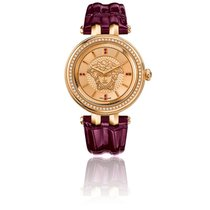 Versace Montre Khai 38mm Cuir Violet/ Pvd Or rose VQE06 0015