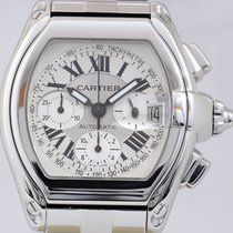 Cartier Roadster Chronograph XL Stahl silver dial Automatik...
