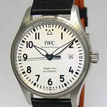 IWC Pilot's Mark XVIII Steel Mens Watch Box/Papers NOS 3270