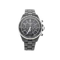 Chanel J12 Black Ceramic Chronograph Watch