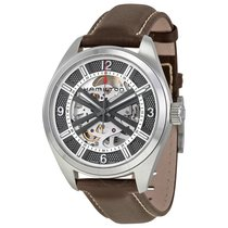 Hamilton Khaki Skeleton Dial Automatic Brown Leather Men's...