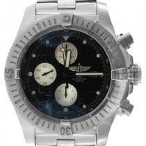 Breitling Super Avenger Men's 48mm Black Dial Stainless...