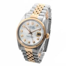 Rolex 18K/SS Datejust Custom Mother of Pearl w/ Diamonds - 36mm