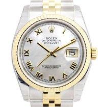 勞力士 (Rolex) Datejust 18k Gold Steel Silver Automatic 116233WTM...