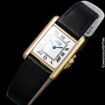 Cartier Ladies Tank Watch - Gold Vermeil, 18K Gold over...