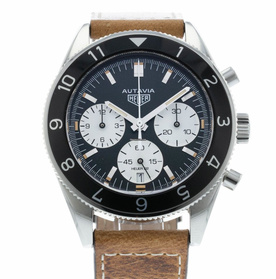 Tag Heuer Autavia Heritage Re Issue 02 Cbe2110fc8226 For C Space Leather 5571 Sale From A Trusted Seller On Chrono24