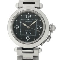 Cartier Pasha Collection Pasha C Stainless Steel 35mm Black Dial