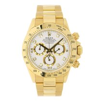 Rolex DAYTONA 18K Yellow Gold Watch White Diamond Dial 2003