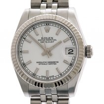Rolex Datejust Medium Stahl Weißgold Automatik Jubilé Armband...