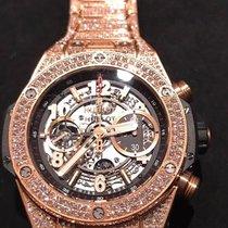 Hublot 411.OX.1180.OX.3704 Unico King Gold Pave Bracelet  45mm