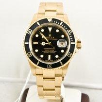Rolex Discontinued 18k Yellow Gold Submariner 16618 Watch