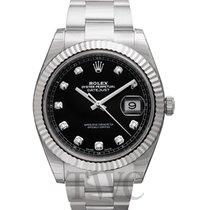 勞力士 (Rolex) Datejust 41 Black Steel/18k White Gold Dia 41mm -...