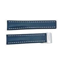 Breitling Strap styled in Blue Leather and White Stitching...