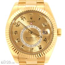 Rolex Sky-Dweller 326938 Gold Champagne Arab Dial