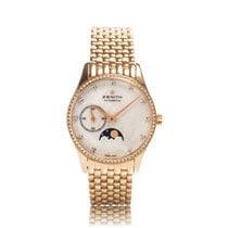 Zenith Elite Rose Gold Ultra Thin Moonphase Automatic Ladies...