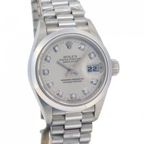 Rolex Lady Platinum Diamonds Dial 79166