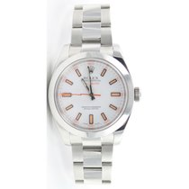 Rolex MILGAUSS Model 116400 White Dial - Perfect Display Model