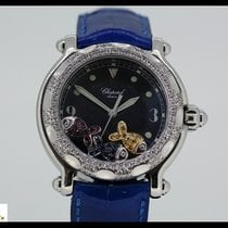 Chopard Happy Beach Steel quartz watch with 3 fish and diamond...