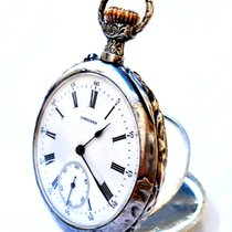 Longines Open Face Art Nouveau 1905c Solid Silver Signed Holy...