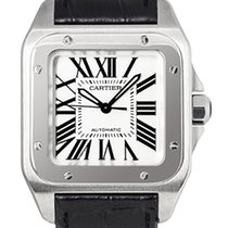 Cartier Santos 100 Midsize Stainless Steel