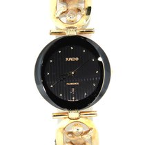 Rado 18k Yellow Gold Angel Diamond Band Watch 152.3694.2