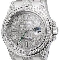 Rolex GMT-Master II Stainless Steel Custom Diamond Set Watch...