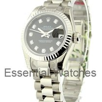 Rolex Unworn 179179 Ladys White Gold President with Fluted...