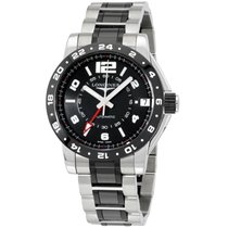 Longines Admiral Gmt Black Dial Steel And Ceramic Date...